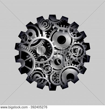 3d Cog And Gears Wheel Concept Background