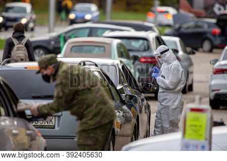Bratislava, Slovakia - October 31: Medical Worker Taking Samples During Massive National Testing