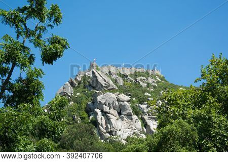 Castle Of The Moors Sintra. Yhe Castle Of The Moors Sintra Portugal.