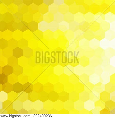 Abstract Background Consisting Of Yellow Hexagons. Geometric Design For Business Presentations Or We