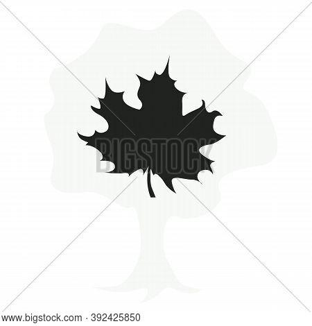 Maple Leaf Vector Icon. Maple Leaf Vector Illustration. Vector Symbol Maple Leaf Clip Art. Black Map
