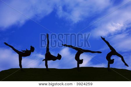 Gymnastic Silhouette