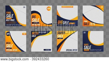Editable Post Template Banners For Social Sale Media Mobile Apps, Digital Marketing. Suitable For So
