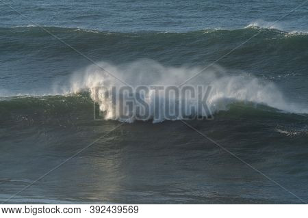 Large Waves Breaking In The Open Ocean During A Tropical Storm