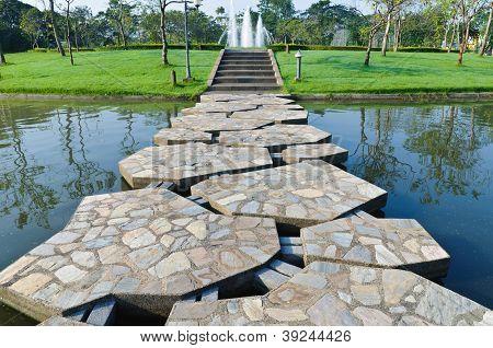 Stone Path Across The Pond