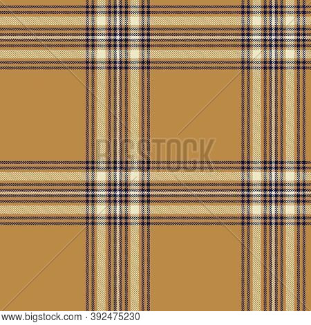 Brown Glen Plaid Textured Seamless Pattern