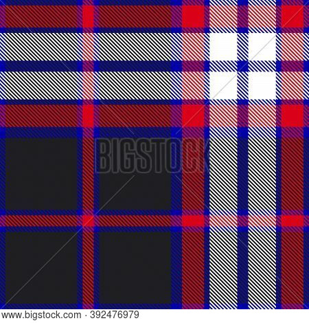 Red Glen Plaid Textured Seamless Pattern