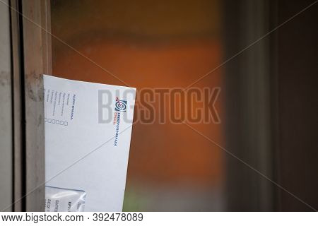Belgrade, Serbia - May 3, 2020: Envelop From The Mail Containing A Utility Bill From Eps, Elektropri