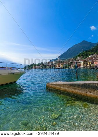 Limone Sul Garda, Italy - The Famous Village Of Limone Sul Garda On Lake Garda, Italy