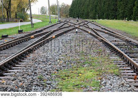 Railway Transportation Infrastructure. Passenger And Freight Transport