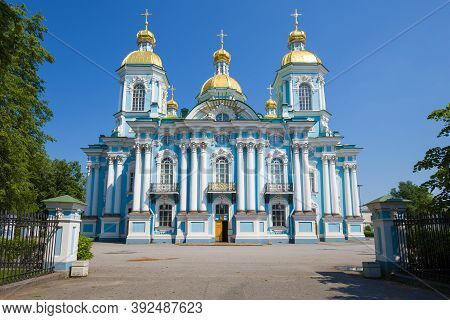 St. Nicholas Cathedral On A Sunny June Day. St. Petersburg, Russia