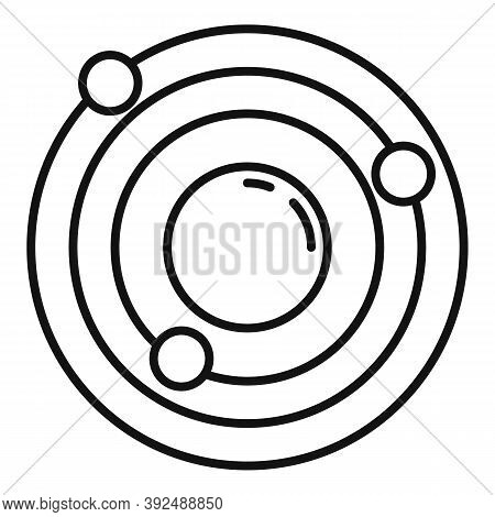 Atom Gravity Icon. Outline Atom Gravity Vector Icon For Web Design Isolated On White Background