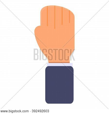 Auction Bid Hand Icon. Cartoon Of Auction Bid Hand Vector Icon For Web Design Isolated On White Back