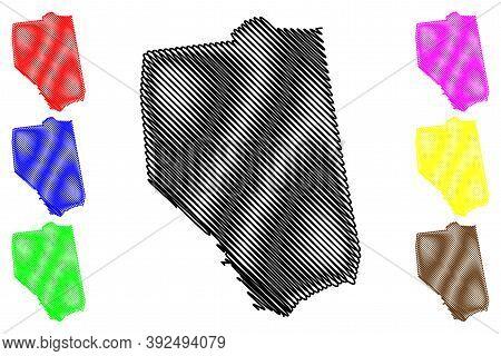 Grant County, Kentucky (u.s. County, United States Of America, Usa, U.s., Us) Map Vector Illustratio