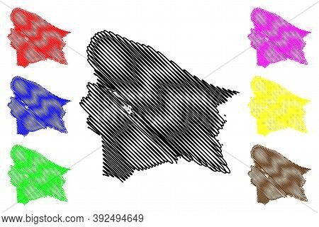 Johnson County, Kentucky (u.s. County, United States Of America, Usa, U.s., Us) Map Vector Illustrat