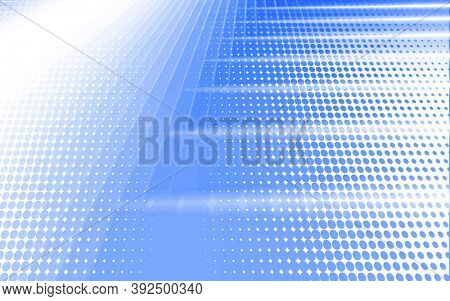 Abstract blue white elegant halftone background. Geometric modern abstract shapes for banners flyers and presentations. Abstract background perspective with soft white blue light.