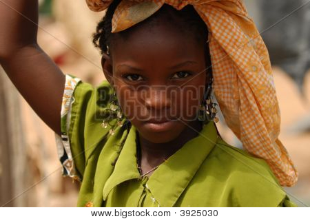 African Girl With Raised Arm