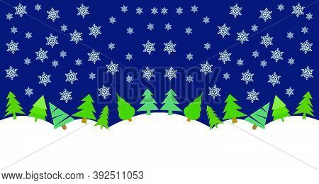 Christmas Background Illustration Design With Colored Background