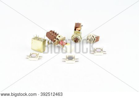 Radio Components, Vintage, Push-button Switches, Keyboards Relays Repair Replacement