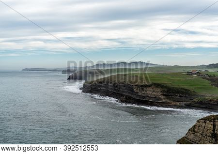 View Of The Cliffs And Ocast In Cantabria In Northern Spain