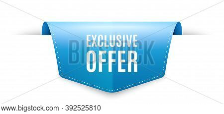 Exclusive Offer. Ribbon Label Tag. Sale Price Sign. Advertising Discounts Symbol. Infographics Price