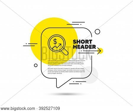 Business Audit Or Statistics Line Icon. Speech Bubble Vector Concept. Analytics With Charts Symbol.