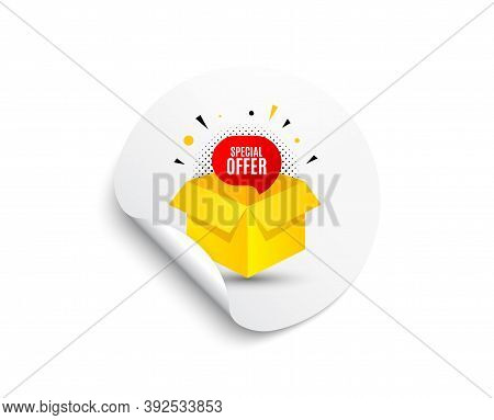 Special Offer Banner. Circle Sticker With Offer Banner. Discount Sticker Shape. Gift Coupon Icon. Ro