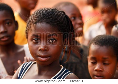 African Girl Amongst Friends
