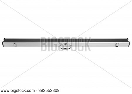 Metal Case For The Cue, With Leather Trim, Case Closed, On A White Background