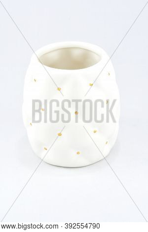One Stand Is White, On A White Background, Bathroom Accessories, An Atmosphere Of Comfort And Peace