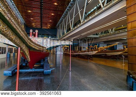 Editorial, Istanbul, Turkey, Imperial Boats In The Maritime Museum