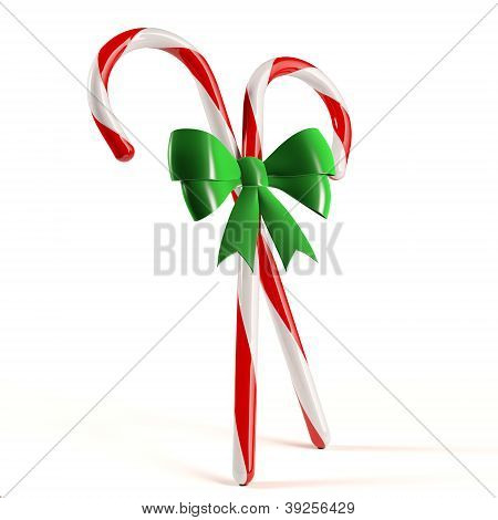 Candy Canes With Bow