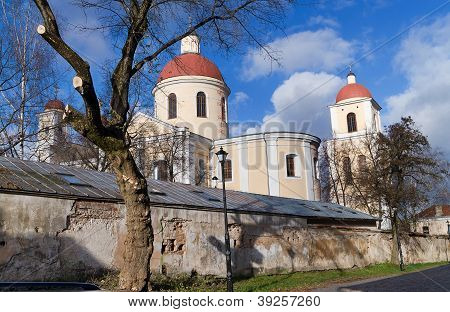 The Church Of The Holy Spirit Towers In Vilnius