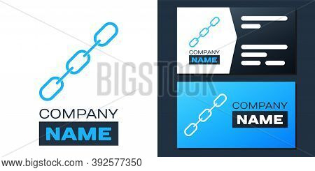 Logotype Chain Link Icon Isolated On White Background. Link Single. Logo Design Template Element. Ve