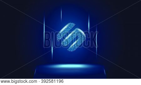 Swipe Sxp Token Symbol Of The Defi System Above The Pedestal. Cryptocurrency Logo Icon. Decentralize