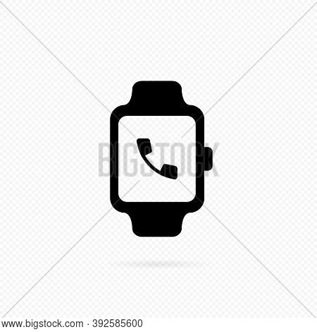 Receive Calling On Smartwatch Icon. Calling On Smartwatch. Smart Watch Incoming Call Vibration. Smar