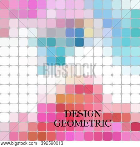 Abstract Stained Glass Window Geometric Warped Hexagon Shapes Ornament Vector Illustration.