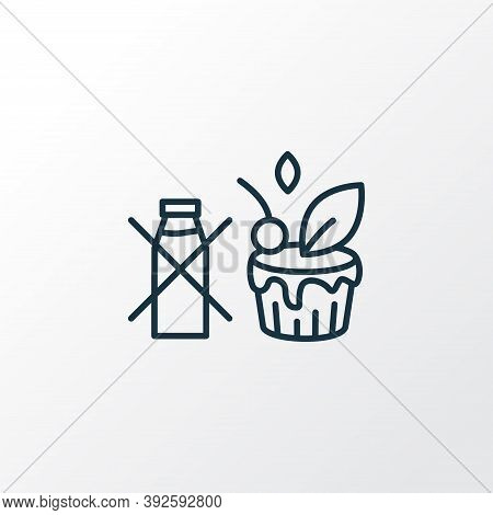 Non-dairy Dresser Icon Line Symbol. Premium Quality Isolated Vegan Cake Element In Trendy Style.