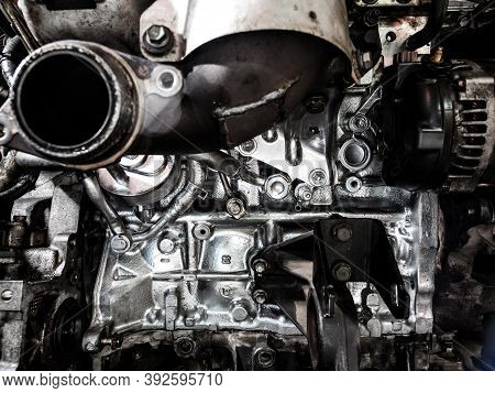 Repair The Engine. Tools, Oil, Nozzles, Cylinder Block, Painting, Cleaning, Diesel Internal Combusti