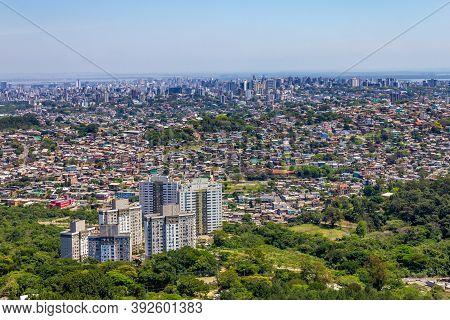 Porto Alegre Cityview From Morro Santana, Rio Grande Do Sul, Brazil