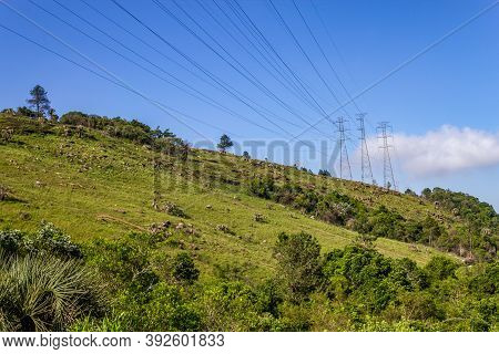 Power Towers Over Morro Santana