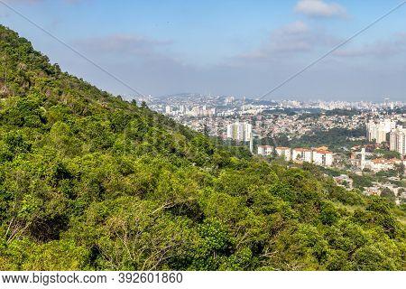 Porto Alegre Cityview And Forest In Morro Santana