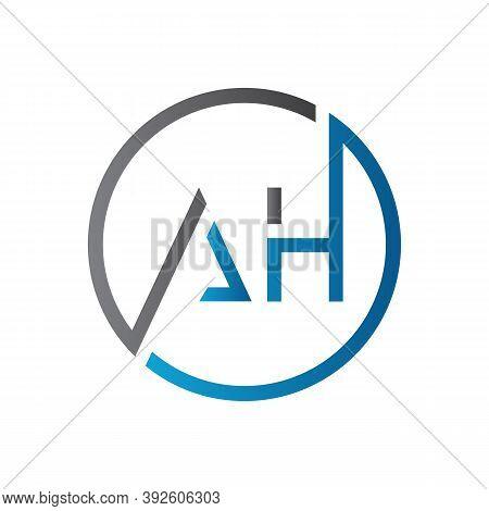 Initial Ah Letter Logo Design Vector Template. Creative Letter Ah Logo Design