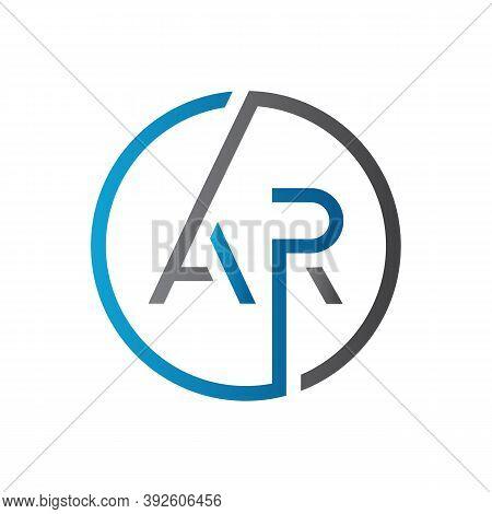 Initial Ar Letter Logo Design Vector Template. Creative Letter Ar Logo Design