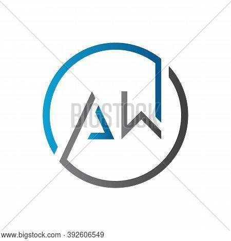 Initial Aw Letter Logo Design Vector Template. Creative Letter Aw Logo Design