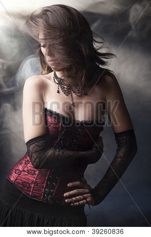 Beuatiful Romantic Goth Girl