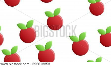 Cranberry On A White Background, Red Berry, Vector Illustration, Pattern. Sugar Cranberry, Marsh Ber