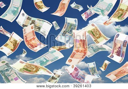Falling Roubles (sky Background)
