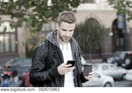 Social Networks. Send Message. Modern Life Impossible Without Online Communication. Modern Guy With