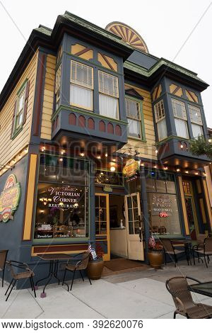 Monterey, Ca, Usa, 11 September 2020. A Victorian-style House In The Pacific Grove, California, Usa,